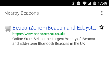 New Android Physical Web App – BeaconZone Blog