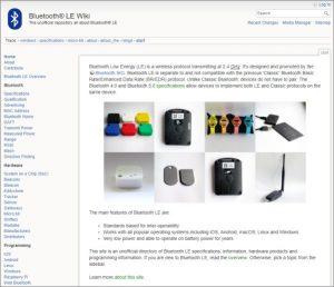 Bluetooth LE Wiki