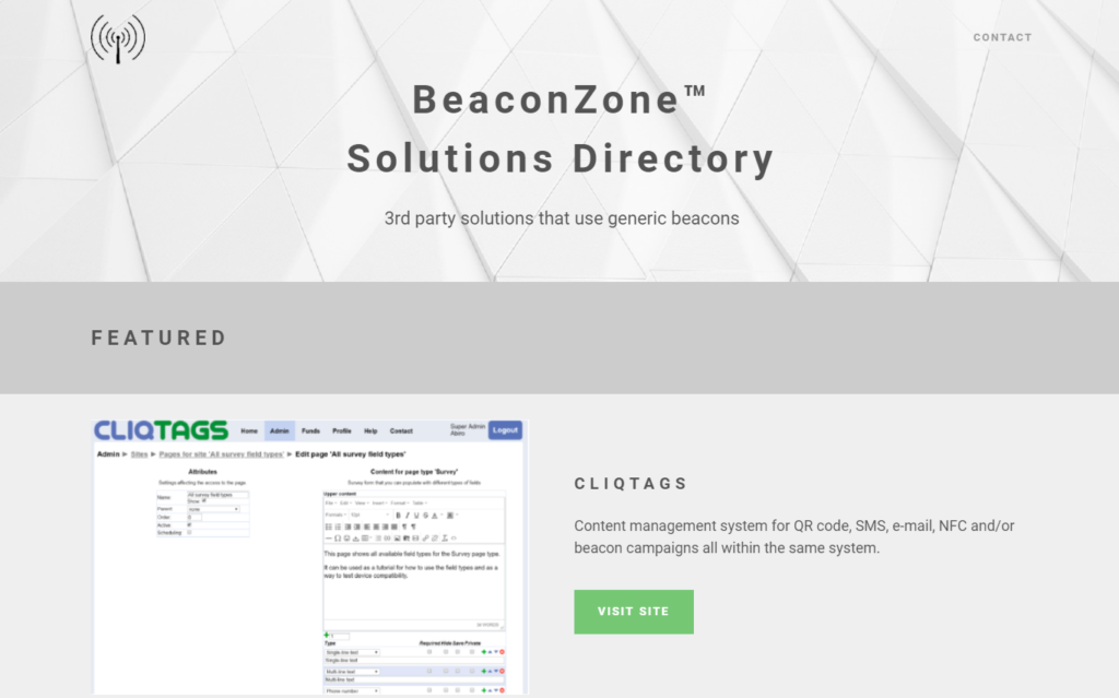 iBeacon Solutions Directory