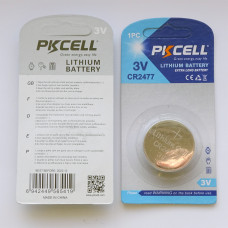 PKCell CR2477 Lithium Battery